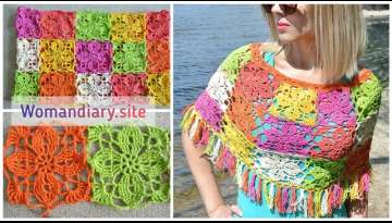Summer Knit Lace Poncho Making