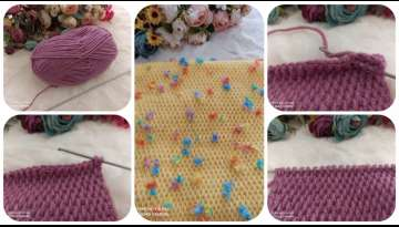 #Tunisiancrochet #crochet #tunisianknitting knit tunisian knit on its side