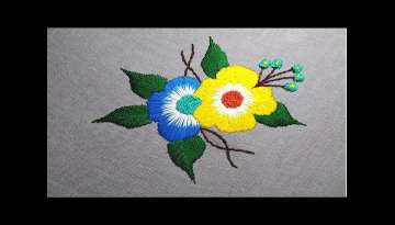Cute Hand Embroidery Flower designs 2