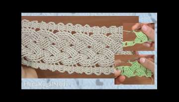 Step-by-Step Crochet Wide Cable Pattern 1
