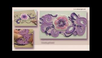 Step by Step Crochet Beautiful Irish Lace Composition Tutorial