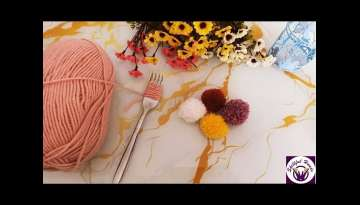 Crafting Super Easy Pom Pom Fork Ideas - Amazing Hand Embroidery Number -Easy Shaggy Flower Craft...