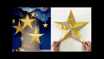 how to make paper star for party decoration