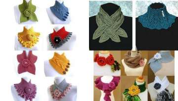 Models of knitted scarves for women