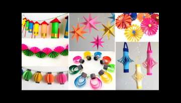 10 Easy Paper decoration ideas for Festival at home| Room Decor ideas for Diwali and Christmas