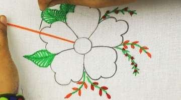 modern hand embroidery flower designs