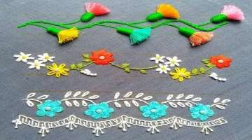 Bead embroidery,Cute Borderline Embroidery tutorial