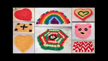 8 Beautiful Woolen Doormat Making Ideas