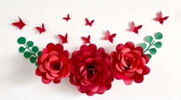 Room Decor Ideas| Nursery paper flower wall decor | wall decor ideas at home