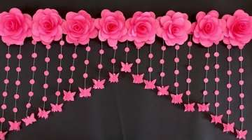 PAPER ROSE FLOWERS DOOR HANGING | PAPER FLOWERS DOOR HANGING TORAN