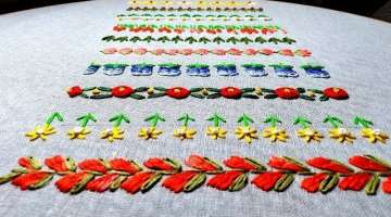 Simple Hand Embroidery Borderlines,Amazing Embroidery designs