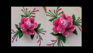 Beautiful Hand Embroidery 3d Flower Design stitch