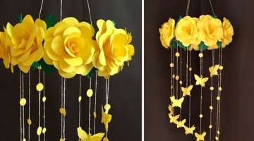 Paper Rose Flower Wall hanging