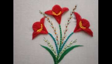 Beautiful Flower embroidery